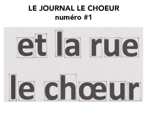 LE CHOEUR LE JOURNAL